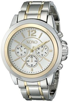 Two-tone watch featuring round sunray dial with logo 1774b1783853