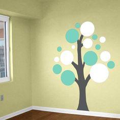 Lots Circles Tree - Vinyl Wall Decals