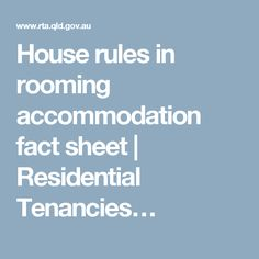 Tenancyt assets forms templates boarding house tenancy house rules in rooming accommodation fact sheet residential tenancies platinumwayz