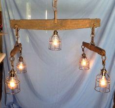 Antique-Horse-Yoke-Double-Tree-Rustic-Barn-Light-Fixture-Chandelier