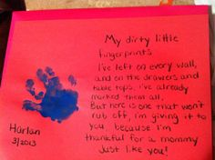 Handprint poem. adapt it for our retiring custodian's card More