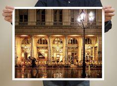 Fine Art Photography  Paris Cafe Nemours  by TheParisPrintShop, $75.00