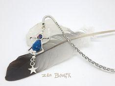 Bookmark Angel Marque-Page Bijou Ange Bleu Signet par ZenBoutik