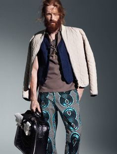 <3 Johnny Harrington - the pants, and what they matched it with. Great outfit.