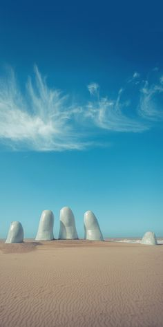 Monument to the drowning, Punta del Este, Uruguay