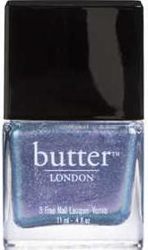 "Butter London: Nail Lacquer in ""Duochrome"" / ""A sheer, twinkling oyster shade flecked with micro glitter particles. This duochrome nail lacquer is sure to please."""