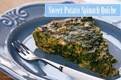 Sweet Potato Spinach Quiche (3 ingredient)
