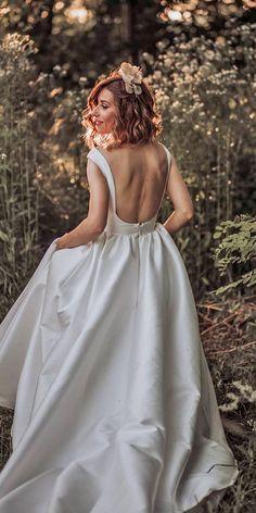 30 Bohemian Wedding Dress Ideas You Are Looking For ❤ bohemian wedding dress simple low back country martinaskrobotphotography #weddingforward #wedding #bride
