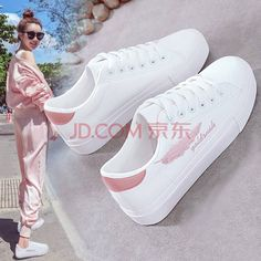 Girls Sneakers, White Sneakers, Girls Shoes, Shoes Sneakers, Trendy Shoes, Cute Shoes, Casual Shoes, Mens Fashion Shoes, Sneakers Fashion
