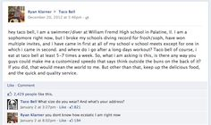 """Taco Bell's Facebook Page Grants Swimmer's Wish For Speedo - More brands are learning that one of the keys to Facebook marketing is engagement. Taco Bell has aced this test. A high school swimmer posted to the restaurant's Facebook page, asking for a Speedo that read, """"Think Outside The Buns."""" Taco Bell not only responded to the post, but sent the young man branded swimwear. #SocialMedia #Engagement #Facebook #TacoBell"""