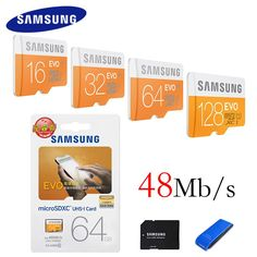 SAMSUNG Original Storage Card 128GB 64GB 32GB 16GB 48M/S C10 EVO MicroSD Card Class10 TF Flash Memory Card SDHC SDXC U1 -  Buy online SAMSUNG Original Storage Card 128GB 64GB 32GB 16GB 48M/S C10 EVO MicroSD Card Class10 TF Flash Memory Card SDHC SDXC U1 only US $8.56 US $5.99. This shopping online sellers give you the information of finest and low cost which integrated super save shipping for SAMSUNG Original Storage Card 128GB 64GB 32GB 16GB 48M/S C10 EVO MicroSD Card Class10 TF Flash…