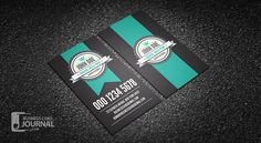 Free Cool Vertical Retro Business Card Template