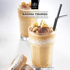 Banana Tiramisu with 1883 Création Fruits Banana #barista #banana #tiramisu #italian
