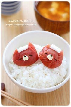 梅干しde温泉ネコちゃん*キャラ弁おかず by Mai*Mai [クックパッド] 簡単おいしいみんなのレシピが208万品