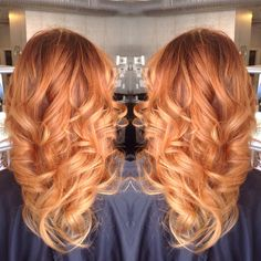 Strawberry blonde ombré hair by Whitney At Luxe salon and spa. For more hair inspirations follow @wb_upstyles on Instagram