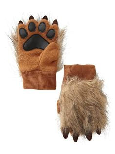 lion gloves -- use cheap tan gloves and add a paw print like this; maybe even fur?