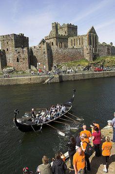Viking Longboat races in Peel, Isle of Man