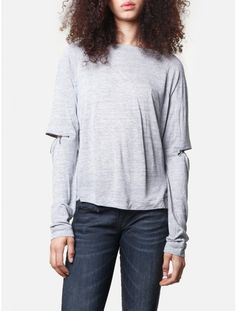 Back by Ann-Sofie Back zip l/s top