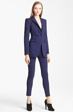 Theory classic black pant suit and white blouse | What's in ...