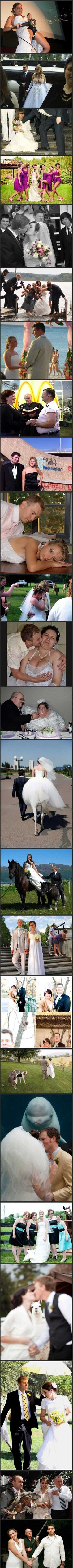 Most unfortunate wedding photos. Omg! What in the opposite of heaven