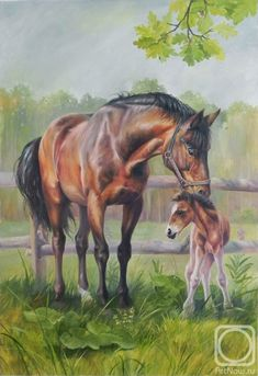 Horse painting by Neprijatel Julia.