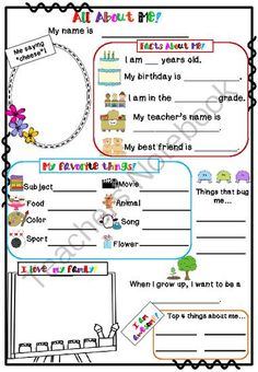 All About Me Poster from Little Achievers on TeachersNotebook.com -  (1 page)  - All About Me Poster This cute and simple All About Me Poster can be used as an icebreaker.