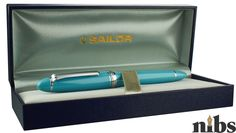 Best Every Day Carry: Sailor 1911 Mid-Size Fresca Blue Sailor Pens, Fountain Pens, Solid Gold, Pen Pals, Japan, Choice Awards, Blue, Summer, Fountain Pen