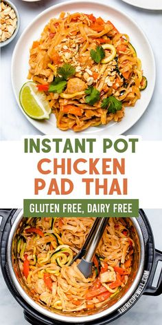 Skip the takeout and make this easy Instant Pot Chicken Pad Thai! Made with homemade sauce and plenty of vegetables, you will love how easy it is to make this healthier version of pad Thai at home. Best Instant Pot Recipe, Instant Pot Dinner Recipes, Healthy Dinner Recipes, Delicious Recipes, Healthy Asian Recipes, Lunch Recipes, Tasty, Instapot Recipes Chicken, Crockpot Recipes
