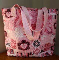 Breast Cancer Awareness Themed Quilted Market by TobaccoShedQuilts, $36.00