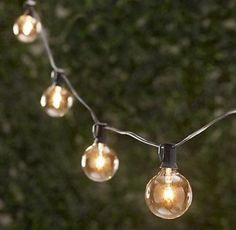 Spring Rose(TM) 25 Clear Globe Patio String Lights . These Are Great For Christmas, Holidays, Weddings and Should Be Part of Your Party Supplies. They Make A Great Decoration And Can Be Used Indoors and Outdoors. Each Strand Has 25 Clear Round Bulbs With A Green Cord And An End Connector So You Can Connect Multiple Sets. Each Bulb Socket Has A Clip For Easy Installation. Total Length 25 Feet, 12 Inch Spacing Between Bulbs, and 5 Inches From Plug To First Bulb. Spring Rose ...