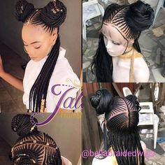 Full Lace Cornrow Wig, Neatly and tightly done for long term use Hand Made Corn Row Wigs Full Lace Material Guaranteed to Last For 2 Years Color Shown: Length Shown: Box Braids Hairstyles, Braids Wig, My Hairstyle, Twist Braids, African Hairstyles, Girl Hairstyles, Black Hairstyles, Teenage Hairstyles, Fishtail Braids