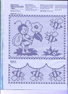 Häkeln  Filethäkeln Gardinen Maja crochet curtain