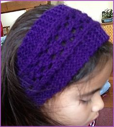 Easy Lace Headband This is a Free pattern  Go to; http://pinterest.com/DUTCHYLADY/share-the-best-free-patterns-to-knit/ for 2000 and more FREE knit patterns