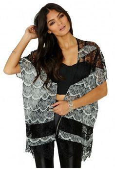 missguided. melrose lace kimono. #fashion