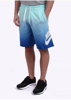 Nike Apparel AW77 Alumni Fade Shorts - Aqua Blue