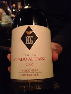 An amazing Guado al Tasso from Bogheri, Italy last week with Bill and Christina at Farfalle.