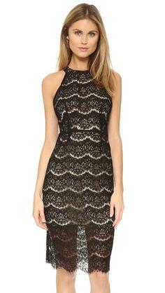 WAYF Cross Back Lace Midi Dress