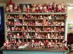 Laurie's Aunt's vintage Christmas collection! So charming!