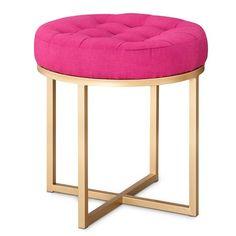 Threshold™ Button Tufted Ottoman - Pink