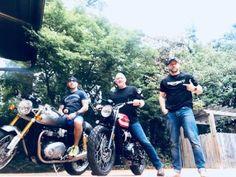 Tom, Big John abd Jacob Tomuri. #Triumph ATLANTA DEPT Tom Hardy Jacob Tomuri Triumph Motorcycles #bigJohn via thdo