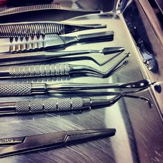 Prepared for a periodontal surgery, nice cozy  set ;)