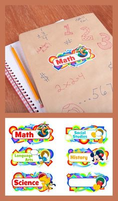 Mickey and his friends help students stay organized with these printable subject stickers. Mickey And Friends, Disney Family, Science Art, Art History, School Stuff, Creations, Notebook, Parties, Organization