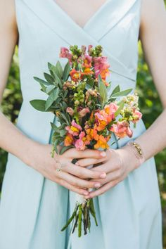 Fresh Local Communal Michigan Wedding Bridesmaid Bouquet http://blokesndames.co.uk/