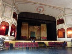 inside Piper's Opera House, in Virginia City Nevada, by bluehour23, via Flickr