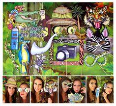 Jungle Explorer cabina apoyos de la foto  ideales por thepartyevent