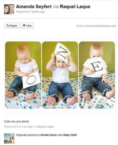Baby Photography Ideas Baby One Year Age