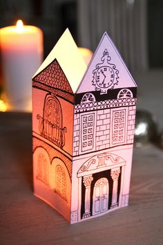 Rebeccas DIY: Papperspalats * Venetian Paper Palace