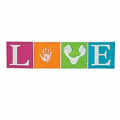 Love Hand and Footprint Canvases