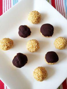 Puffed Quinoa Peanut Butter Balls #vegan #recipe