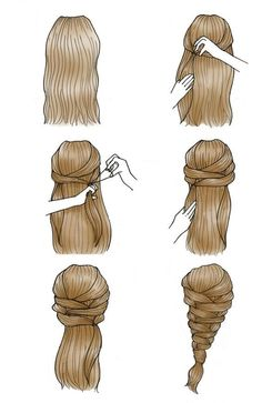easy and unique braided style Sweet Hairstyles, Cute Simple Hairstyles, Braided Hairstyles, Blonde Layered Hair, Medium Layered Hair, Long Length Hair, Easy Everyday Hairstyles, Hair Sketch, How To Draw Hair